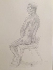 Life Drawing By Ron Affee